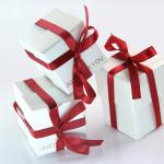 gift boxes with red ribbon for valentines day and love gifts